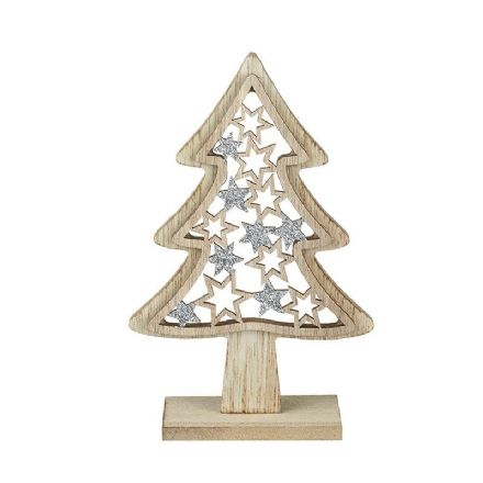 Small Wooden Star Tree Decoration